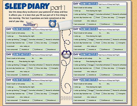 Sleepcharts - Marks Psychiatry